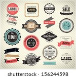 premium quality  guarantee and... | Shutterstock .eps vector #156244598