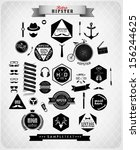 hipster style elements  icons... | Shutterstock .eps vector #156244625