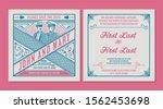 wedding invitation. vintage... | Shutterstock .eps vector #1562453698