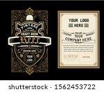 vintage beer label for packing   Shutterstock .eps vector #1562453722
