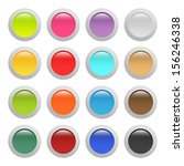 set of buttons  raster version... | Shutterstock . vector #156246338