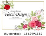 the rose elegant card. doodle.  ... | Shutterstock .eps vector #1562491852