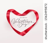 happy valentines day greeting... | Shutterstock .eps vector #1562495872