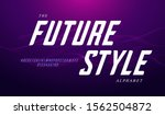 future style font and alphabet... | Shutterstock .eps vector #1562504872