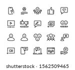 feedback line icons. customer... | Shutterstock .eps vector #1562509465