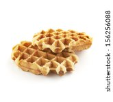 belgian sugar waffles isolated... | Shutterstock . vector #156256088