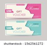 gift voucher template with... | Shutterstock .eps vector #1562561272