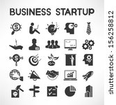 business startup icons | Shutterstock .eps vector #156258812