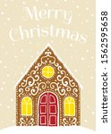 merry christmas greeting card... | Shutterstock .eps vector #1562595658