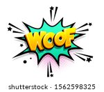 woof dog barking cartoon funny... | Shutterstock .eps vector #1562598325