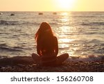 Silhouette Of Girl With Long...