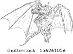 vector   flying dragon ... | Shutterstock .eps vector #156261056