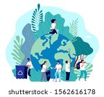 take care of earth.... | Shutterstock .eps vector #1562616178