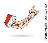 santa claus hand tattooed. new... | Shutterstock .eps vector #1562626465