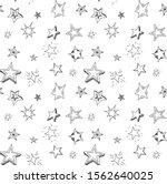 hand drawn stars doodle...   Shutterstock .eps vector #1562640025