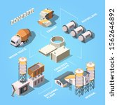 cement factory. stage of... | Shutterstock .eps vector #1562646892
