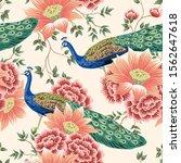 vintage chinese flower lotus... | Shutterstock .eps vector #1562647618
