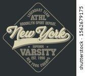 new york varsity sport wear... | Shutterstock .eps vector #1562679175
