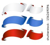 color ribbon banners  vector... | Shutterstock .eps vector #156269096