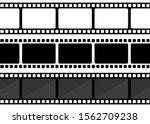 vector three film strip...   Shutterstock .eps vector #1562709238