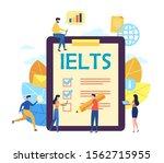 ielts international english... | Shutterstock .eps vector #1562715955