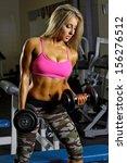 sexy fitness girl  | Shutterstock . vector #156276512