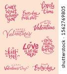 set of valentine themed hand...   Shutterstock .eps vector #1562769805