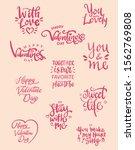 set of valentine themed hand...   Shutterstock .eps vector #1562769808
