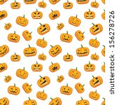 seamless halloween background... | Shutterstock .eps vector #156278726