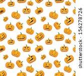 seamless halloween background... | Shutterstock .eps vector #156278726