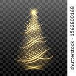 lighting bright christmas tree. ...   Shutterstock .eps vector #1562800168