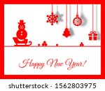 new year postcard printable red ... | Shutterstock . vector #1562803975