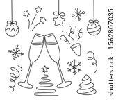 new year elements set... | Shutterstock .eps vector #1562807035