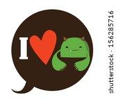 i love monster design | Shutterstock .eps vector #156285716