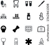 medical vector icon set such as ... | Shutterstock .eps vector #1562861008