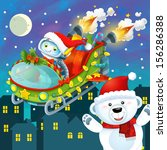 the colorful christmas  ... | Shutterstock . vector #156286388