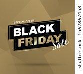 black friday sale vector... | Shutterstock .eps vector #1562867458