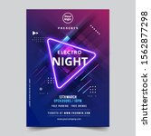 dance club night party flyer... | Shutterstock .eps vector #1562877298