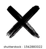 grunge letter x .dirty cross... | Shutterstock .eps vector #1562883322