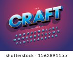 vector of stylized modern font... | Shutterstock .eps vector #1562891155