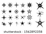 set of spark icon or star shape ... | Shutterstock .eps vector #1562892358