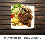 Grilled Pork Steak Fillet With...