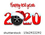 snowy new year numbers 2020 and ... | Shutterstock .eps vector #1562922292