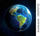 earth in the space   universe...