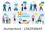 communicating personally and... | Shutterstock .eps vector #1562938645