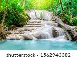 Deep Forest Waterfall At Erawan ...