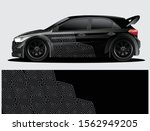 rally car decal graphic wrap...   Shutterstock .eps vector #1562949205