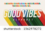 vector of long shadow font and...   Shutterstock .eps vector #1562978272