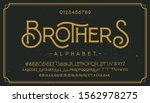 vintage grunge font with dirty... | Shutterstock .eps vector #1562978275