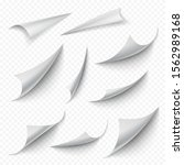 curled corners. blank book...   Shutterstock .eps vector #1562989168